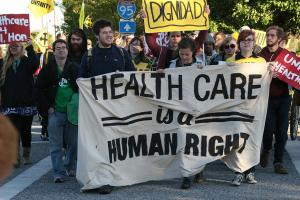 Demonstrators in Vermont rally for healthcare reform